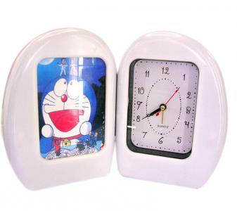 plastic foldable photoframe clock
