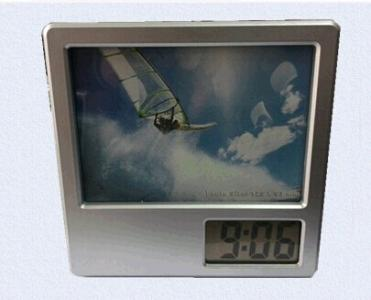 plastic penholder photoframe  digital clock