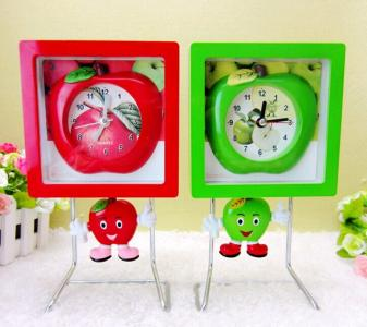plastic apple clock
