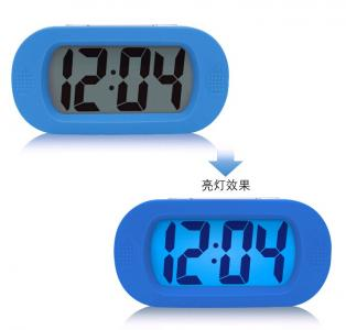 silicone led big number  desk clock