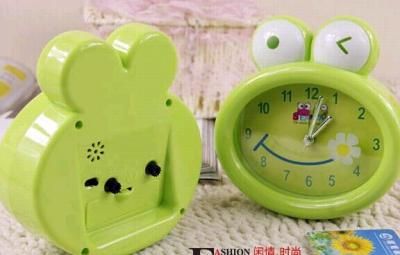 cartoon plastic desk alarm clock