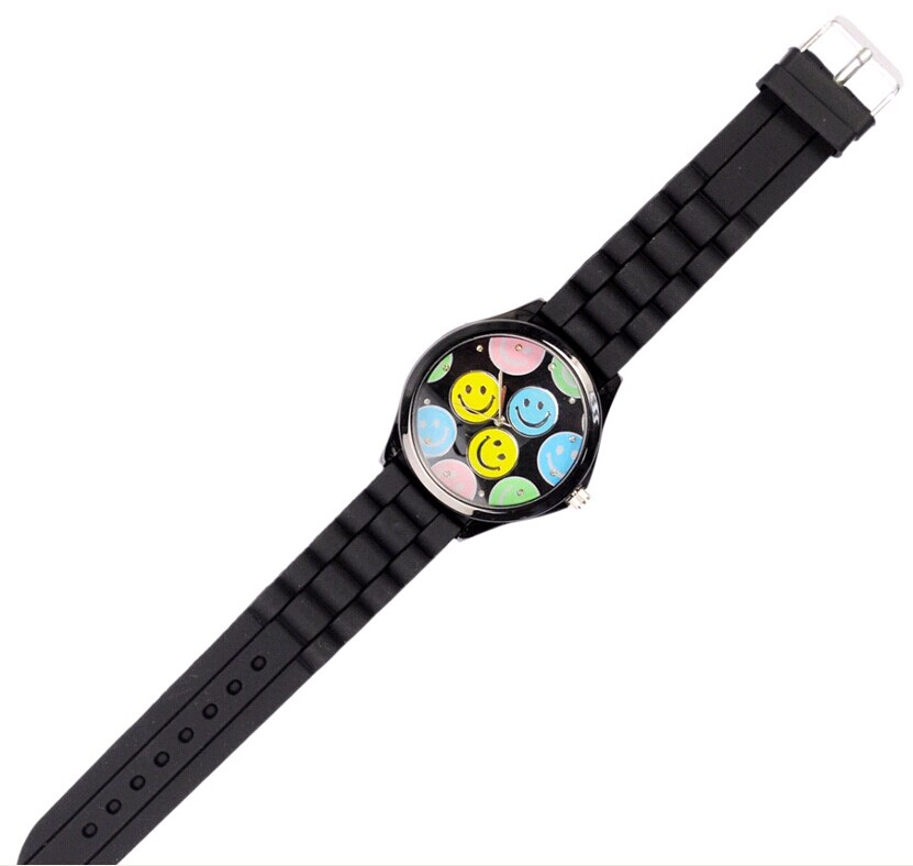 smile silicone jelly watch