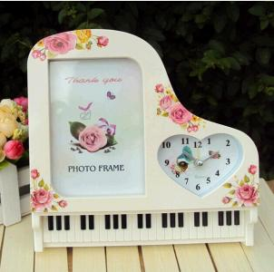piano design wedding photoframe desk clock